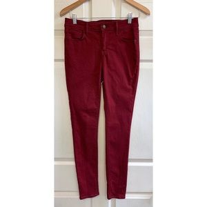 Old Navy Maroon Skinny Jeans | Dark Red | Size 6